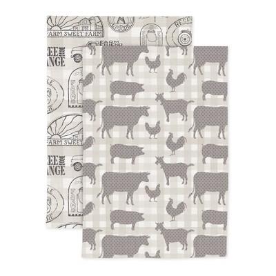 2pk Cotton Designer Vintage Farm Kitchen Towels - MU Kitchen