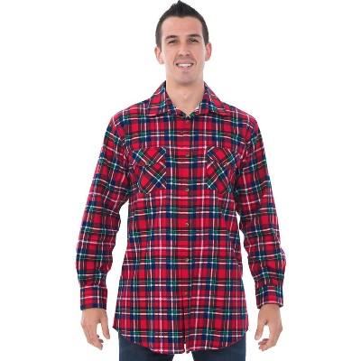 Alexander Del Rossa Men's Flannel Button Down Shirt