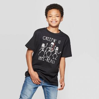 Boys' Star Wars Halloween Short Sleeve T-Shirt - Black M