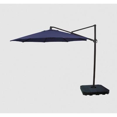 11' Offset Patio Umbrella DuraSeason Fabric™ - Black Pole - Threshold™