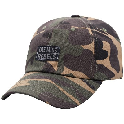 NCAA Ole Miss Rebels Men's Camo Washed Relaxed Fit Hat