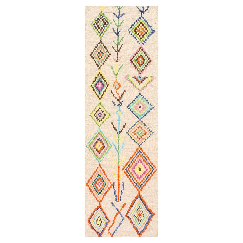Off White Abstract Tufted Runner - (2'6x8') - nuLOOM, Ivory