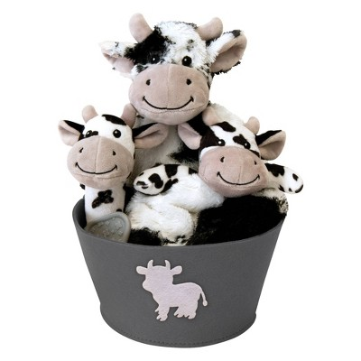 Trend Lab Plush Gift Set - Cow 4pc