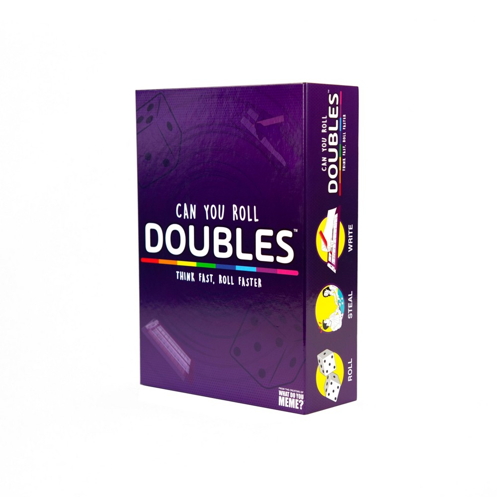 Doubles! Game by What Do You Meme? Doubles! is the rapid-fire, high-pressure game where players compete to fill out the category sheet before their opponents can roll doubles and steal the board! Gender: Unisex.