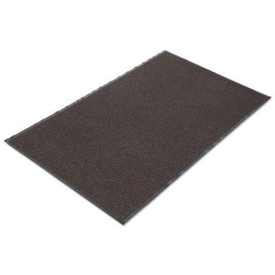 3'x5' Rectangle Solid Floor Mat Brown - Crown