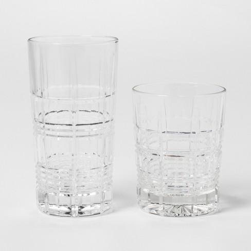 12pc Glass Assorted Beveled Tumblers - Threshold™ - image 1 of 4