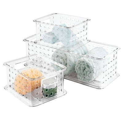3pc Zia Stack and Slide Set Clear - iDESIGN