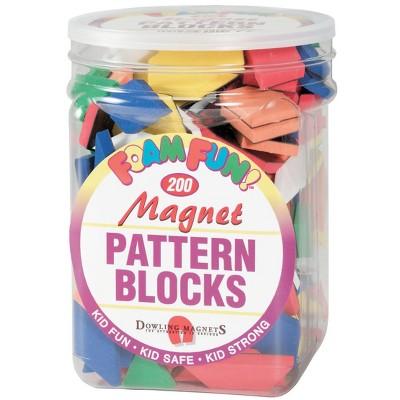Dowling Magnets Pattern Block Set, 200 pc