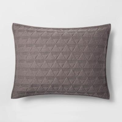Gray Triangle Stitched Jersey Sham (Standard)- Project 62™ + Nate Berkus™