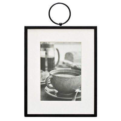 "8"" x 10"" Thin Metal With Ring Frame Black - Threshold™"