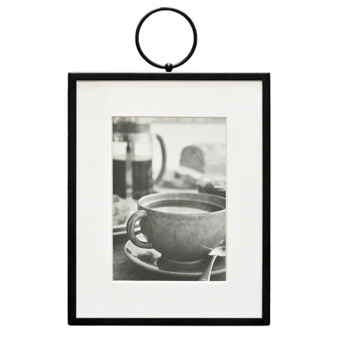 """8"""" x 10"""" Thin Metal with Ring Frame Black - Threshold™ - image 1 of 4"""