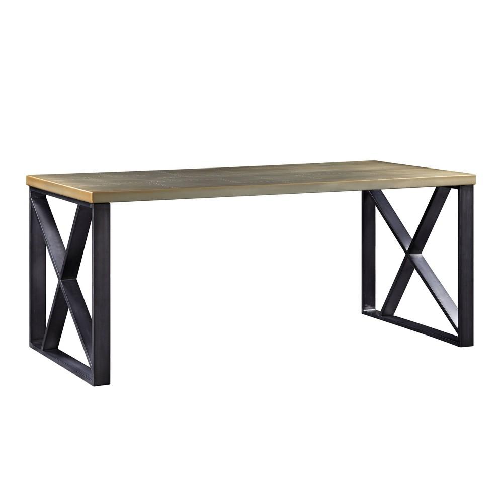 Jennavieve Desk Gold Aluminum - Acme Furniture Jennavieve Desk Gold Aluminum - Acme Furniture