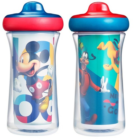 The First Years Disney Mickey Mouse ImaginAction Insulated Hard Spout Sippy Cups - 9oz 2pk - image 1 of 4