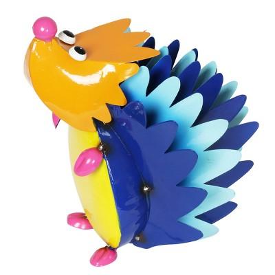 "9.65"" Metal Colorful Hedgehog - Exhart"