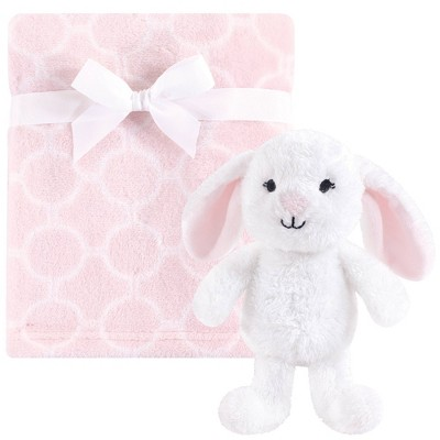 Hudson Baby Unisex Baby Plush Blanket with Toy - Snuggly Bunny