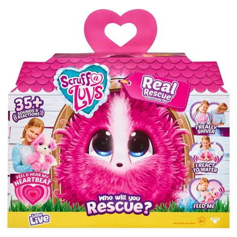 Little Live Scruff-A-Luvs Real Rescue Electronic Pet - Pink - image 1 of 4