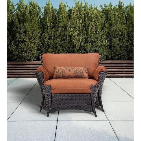 Strathmere Allure 2 Piece Wicker Patio Chair Ottoman Set