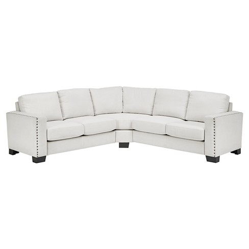 Carnegie Hill Nailhead Two & Two Sectional Sofa White - Inspire Q - image 1 of 7