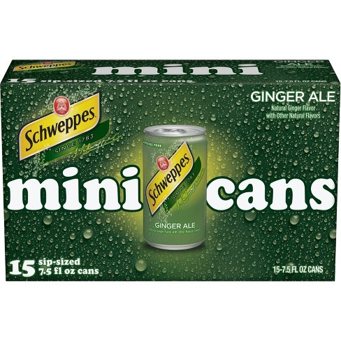 Schweppes Ginger Ale - 15pk/7.5 fl oz Mini Cans - image 1 of 2