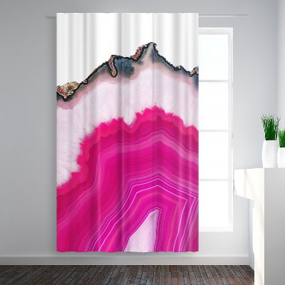 Americanflat Pink Agate Slice by Emanuela Carratoni Blackout Rod Pocket Single Curtain Panel 50x84