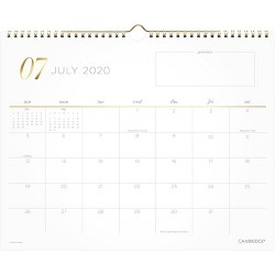 2020-2021 Academic Wall Calendar Work Style Cambridge