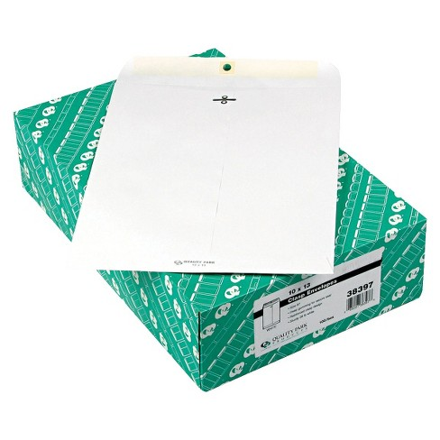 Quality Park 10 x 13-28lb Clasp Envelope- White (100 Per Box) - image 1 of 1