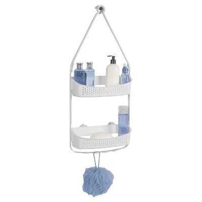 Convertible/Flexible Shower Caddy White - Bath Bliss