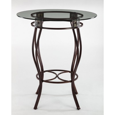 "42"" Beau Bar Height Round Table Metal/Aged Bronze - Boraam"