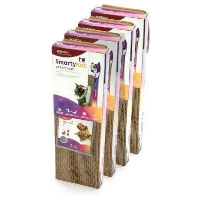 SmartyKat Scratch Up Hanging Single Corrugate Cat Scratcher - 4pk