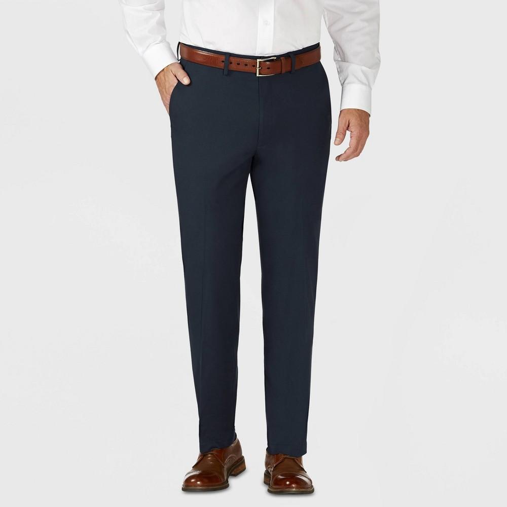 Haggar H26 Men's Tailored Fit Premium Stretch Suit Pants - Blue 34x30