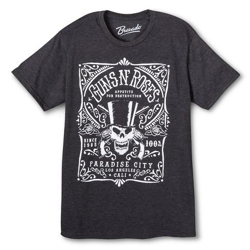 Men S Guns N Roses T Shirt Charcoal Target