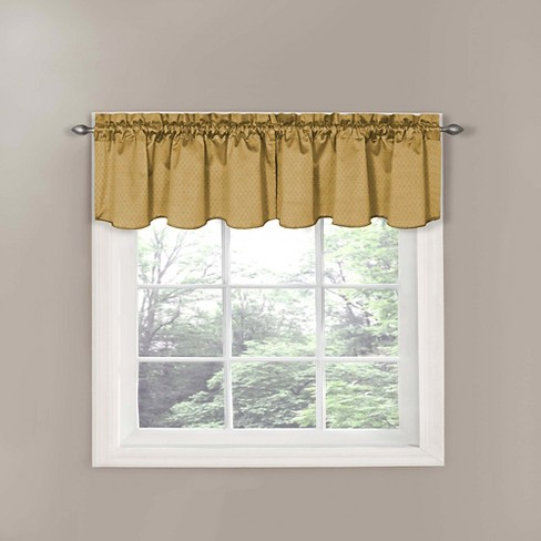 "Eclipse Thermaback Canova Blackout Window Valance - Gold (42""x21"") - image 1 of 4"