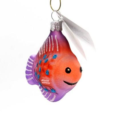 Golden Bell Collection Fish W/Polka Dots Ornament Ocean Fins Gills  -