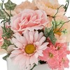 """Dahlia Studios Pink Daisy and Peach Hydrangea 12"""" High Faux Flowers in Pot - image 2 of 4"""