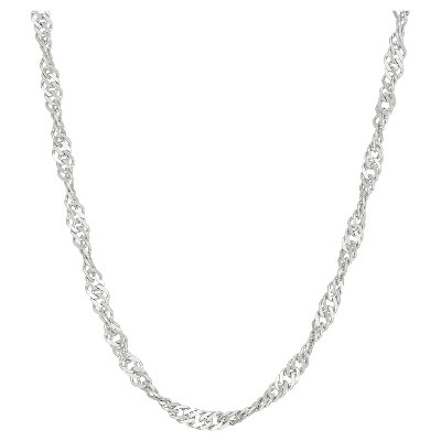 Tiara Sterling Silver Disco Chain Necklace