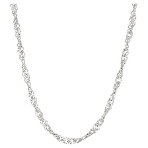 Tiara Sterling Silver Disco Chain Necklace - image 1 of 1