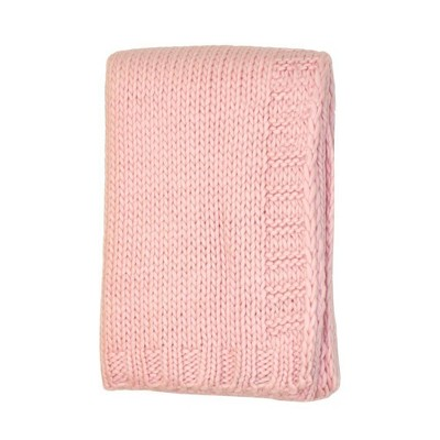 Kimberly Grant Large Gauge Cable Knit Blanket - Pink