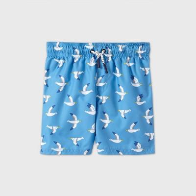 Toddler Boys' Seagull Print Swim Trunks - Cat & Jack™ Blue