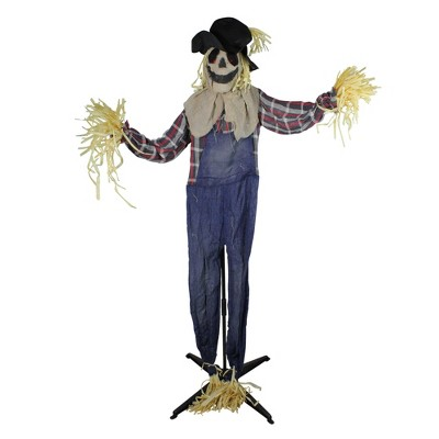 Northlight 5.5' Battery Operated Animated LED Lighted Scarecrow Halloween Decoration