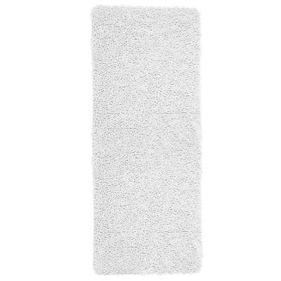 Solid Memory Foam Shag Bath Mat White - Yorkshire Home