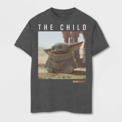 Boys' Short Sleeve Disney The Mandalorian T-Shirt - Charcoal Heather