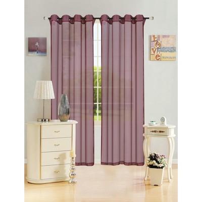 Kashi Home Leah 55 x 84 Sheer Grommet Top Curtain Panel