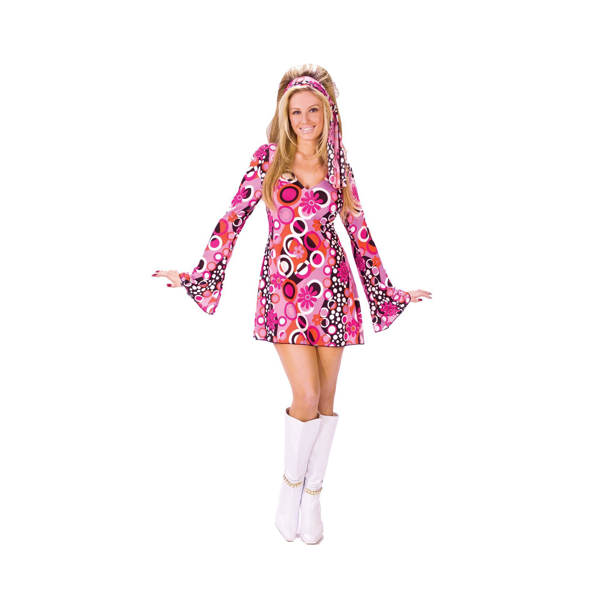 Halloween Feelin' Groovy Adult Costume - S/M, Women's, Size: Small, MultiColored