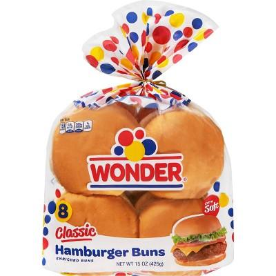 Wonder White Hamburger Buns - 12oz/8ct