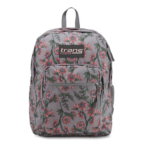 "Trans by Jansport 17"" SuperMax Backpack - Coral Botanical - image 1 of 1"