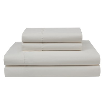 Wrinkle Free 420 Thread Count Cotton Sheet Set (California King)Ivory - Elite Home Products