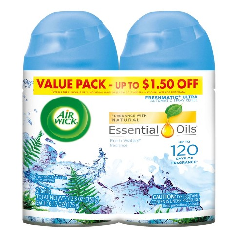 Air Wick Freshmatic Automatic Spray Air Freshener, Fresh Waters Scent, Twin Refills, 6.17oz - image 1 of 5