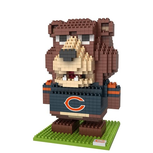 NFL Chicago Bears BRXLZ Mascot Figure 1000pc - image 1 of 1