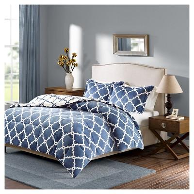 Alston Reversible Plush Comforter Set (King)Indigo - 3pc