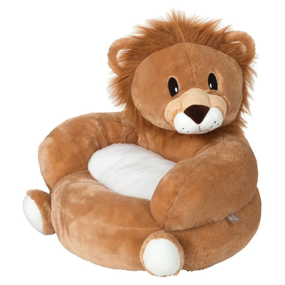 Image of Children's Plush Character Chair - Lion Tan/White - Trend Lab